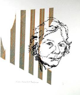 Thekla Albrecht-Iribarne self-portrait