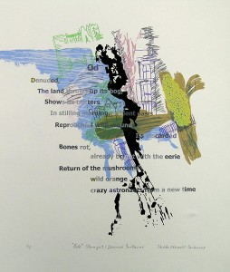 Ode, Stanza 1 - by Jeanne Iribarne: serigraph, 22x30 inches, ed.:5