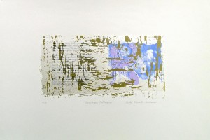 Soundless Colloquy - serigraph, 21.5x14.5 inches, ed.:10
