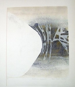 Stasis - woodcut, 26x29 inches, ed.:1